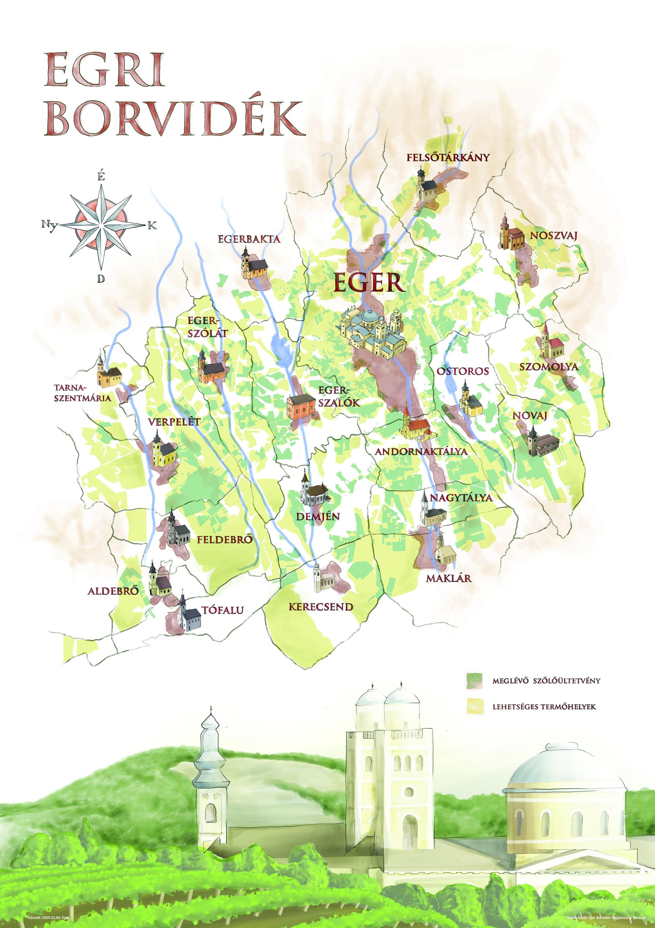 szépasszonyvölgy pincék térkép Egri Borok Pinceáron Webáruház, Webshop